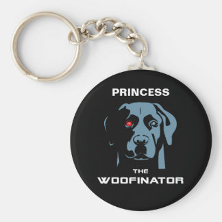 The Woofinator Labrador Basic Round Button Keychain