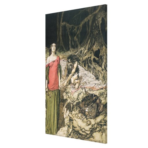 The Wooing of Grimhilde, the mother of Hagen Gallery Wrap Canvas