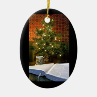 The Word at Christmas Ceramic Ornament