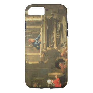 The Workshop of a Weaver, 1656 (oil on canvas) iPhone 7 Case