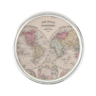 The world 1860 - Eastern & Western hemispheres Lapel Pin