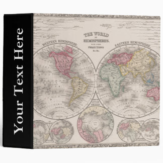The world 1860 - Eastern & Western hemispheres Vinyl Binder