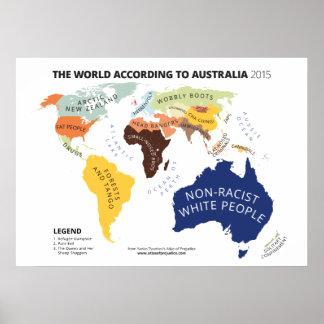 The World According to Australia Poster