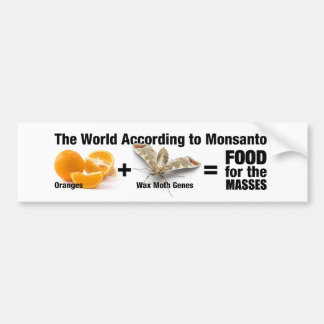 the World According to Monsanto Bumper Sticker