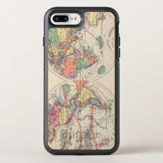 The world Atlas map with currents and trade winds OtterBox Symmetry iPhone 7 Plus Case