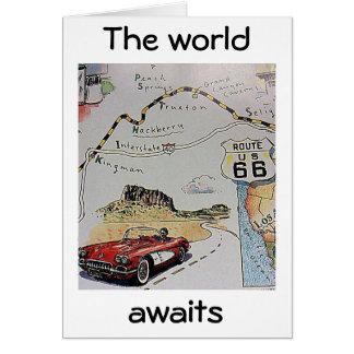 "THE ""WORLD AWAITS"" CONGRATULATIONS CARD"