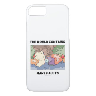 The World Contains Many Faults Earthquake Humor Case-Mate iPhone Case