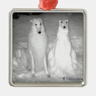 The World Famous Mychtar and His Snowdog ! :) Metal Ornament
