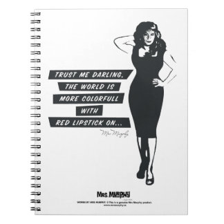The world ice more colorfull with rode lipstick spiral notebooks