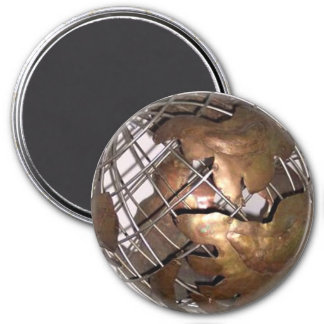 The World in 3-D Magnet