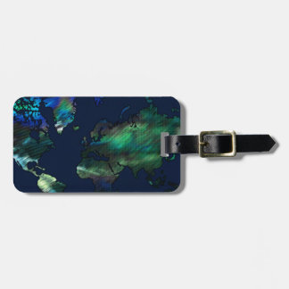 The World in Blues Luggage Tag