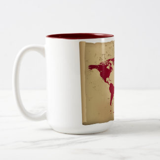 The world in one only sip Two-Tone coffee mug