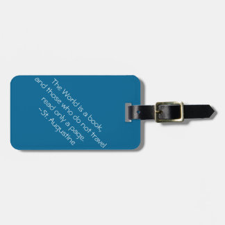 The World is a Book Luggage Tag