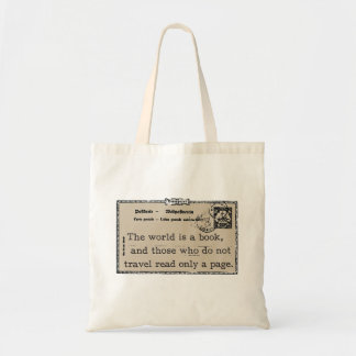 """The World is a Book"" Vintage Travel Tote"