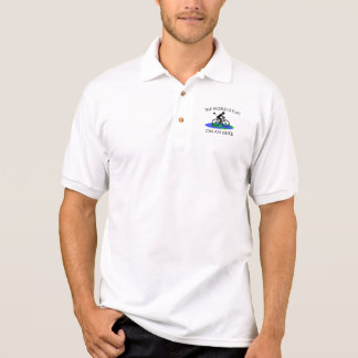 """The world is flat"" polo shirts for men"