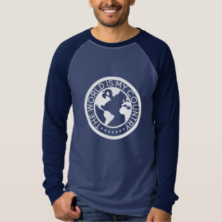 The World is My Country Long Sleeve Raglan T-Shirt