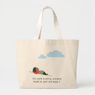 The world is pretty large tote bag