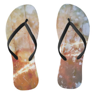 The world is under your feet flip flops