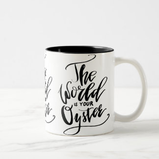 The World Is Your Oyster Two-Tone Coffee Mug