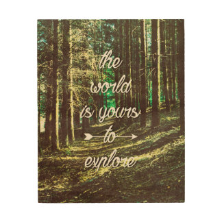 The world is yours to explore wood wall decor