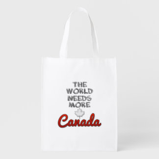 The world needs more Canada Reusable Grocery Bag