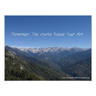 The World Needs Your Art Poster