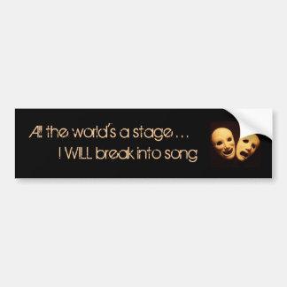 The world of musical theater bumper sticker