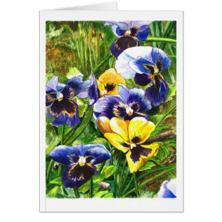 The World of Pansies Card