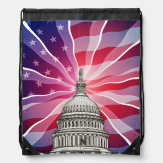 The World of Politics Drawstring Bag