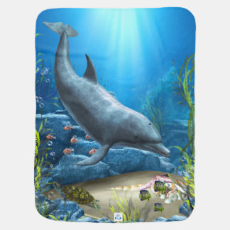 The world of the Dolphin Baby Blanket