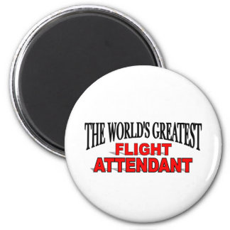 The World s Greatest Flight Attendant Refrigerator Magnet