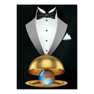 The World Served on a Gold Platter Invitation