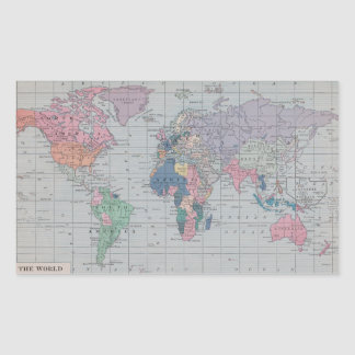 The World - Vintage Map Stickers