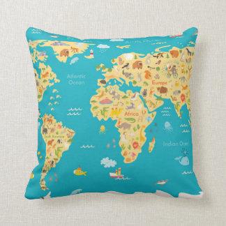 The World's Animals Throw Pillow