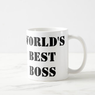 The World's Best Boss Classic White Coffee Mug