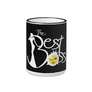 The World's Best Boss lady Ringer Mug