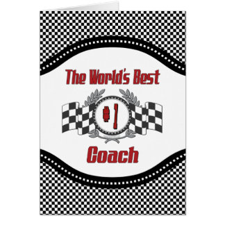 The World's Best Coach with Inner Verse Card