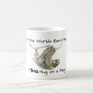 The worlds best Mom, a big hug on a mug sloths