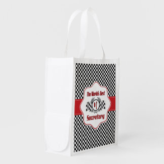 The World's Best Number One Secretary Reusable Grocery Bag