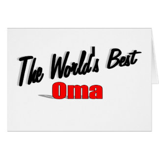 The World's Best Oma Card