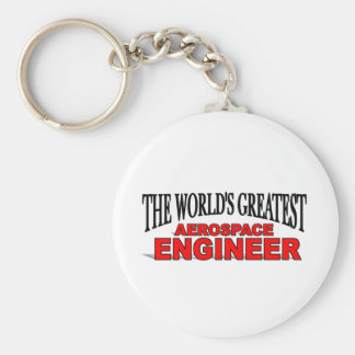 The World's Greatest Aerospace Engineer Basic Round Button Keychain