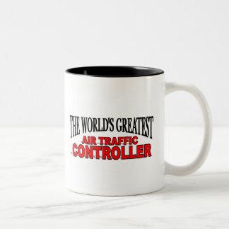 The World's Greatest Air Traffic Controller Two-Tone Coffee Mug