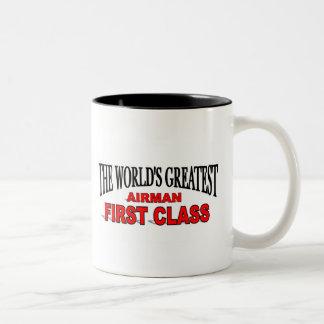 The World's Greatest Airman First Class Two-Tone Coffee Mug