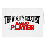 The World's Greatest Banjo Player Greeting Cards