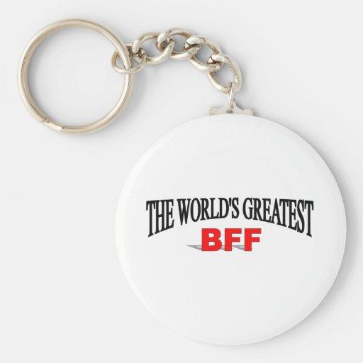 The World's Greatest BFF Basic Round Button Keychain