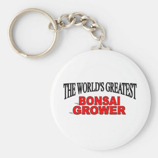 The World's Greatest Bonsai Grower Basic Round Button Keychain