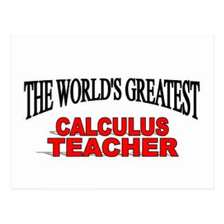The World's Greatest Calculus Teacher Postcard