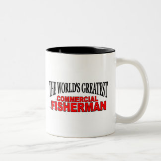 The World's Greatest Commercial Fisherman Two-Tone Coffee Mug