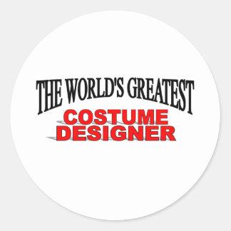 The World's Greatest Costume Designer Round Sticker