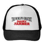 The World's Greatest Dairy Farmer Trucker Hats